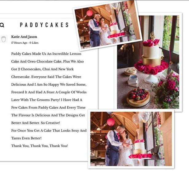 Weddings By Paddy Cakes